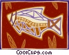 native art/ fish Vector Clipart illustration