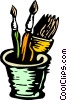 Vector Clipart graphic  of a Painter's brushes