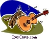 Vector Clip Art image  of a The arts/music
