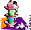coffee time Vector Clipart image