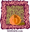 Vector Clip Art picture  of a food and dining/pumpkin