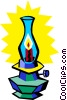 Vector Clip Art graphic  of a oil lamp