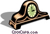 Vector Clip Art graphic  of a mantle clock