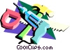 Vector Clipart illustration  of a carpentry tools