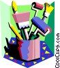 Vector Clipart picture  of a painter's tools