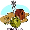 Vector Clipart picture  of a tobacco farm