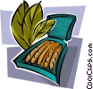 Vector Clipart graphic  of a tobacco with cigars