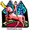 Vector Clip Art image  of a The circus