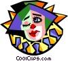 clown Vector Clip Art image