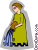 Vector Clipart image  of a symbolic woman