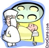 Vector Clipart picture  of a operating room
