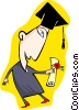 Vector Clip Art image  of a education