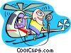Radio announcer/helicopter Vector Clipart illustration