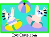 Vector Clip Art graphic  of an at the beach