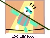circus/tightrope Vector Clip Art graphic