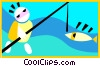 Vector Clipart image  of a fishing