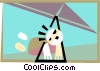hang gliding Vector Clipart picture