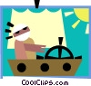 sailing Vector Clip Art graphic