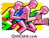 runners, track & field Vector Clip Art graphic
