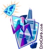 Vector Clip Art graphic  of a global outlook