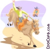 Vector Clip Art picture  of a rodeo
