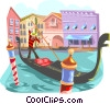 Vector Clip Art image  of a Venice gondola