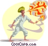 Vector Clipart picture  of a fire breather