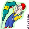 Vector Clipart picture  of a drilling for prospects