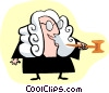 Vector Clipart image  of a judge standing