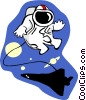 Vector Clipart picture  of a space walk