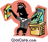 Vector Clipart picture  of a store clerk