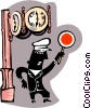 Vector Clipart graphic  of a traffic police