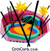 Vector Clip Art graphic  of a The circus