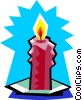 Vector Clipart picture  of a candle