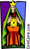Vector Clipart picture  of a tarot cards