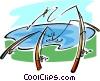 fishing rods Vector Clipart illustration