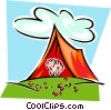 tent with feet exposed Vector Clip Art picture