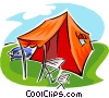 Vector Clipart illustration  of a tent with canopy