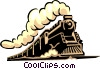 Vector Clipart graphic  of a Steam train