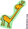 cartoon giraffe Vector Clipart graphic