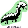 cartoon skunk Vector Clip Art picture