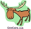 cartoon moose Vector Clipart graphic