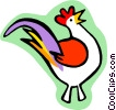 rooster Vector Clipart illustration