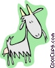 Vector Clipart picture  of a goat