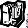 Vector Clip Art graphic  of a office files
