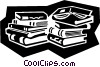business books Vector Clipart illustration