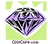 Vector Clipart illustration  of a diamond