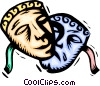 Vector Clip Art picture  of a Theatre masks