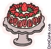 food and dining/cake Vector Clipart picture