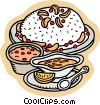 Food and dining/baked goods Vector Clipart illustration